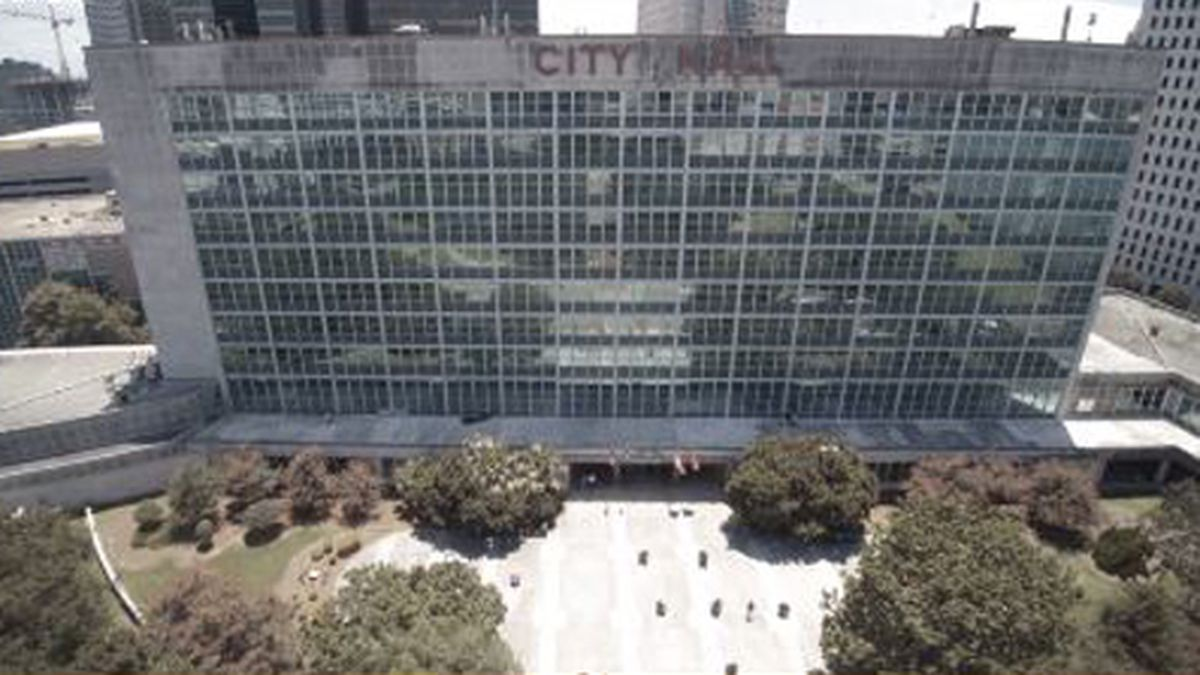 This image shows New Orleans City Hall. (Source: WVUE)