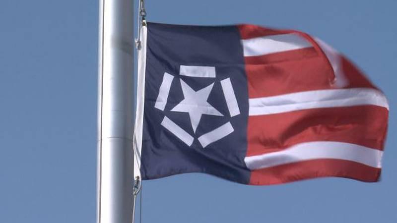 Freedom Flag flies at Davies High