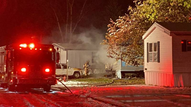 Fire guts vacant mobile home in North Fargo