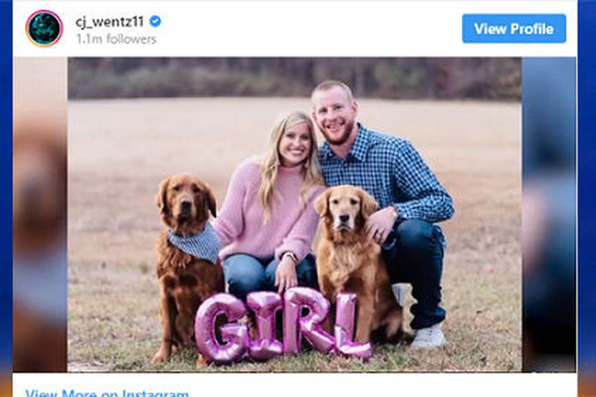 Carson Wentz And Wife Welcome New Baby Girl