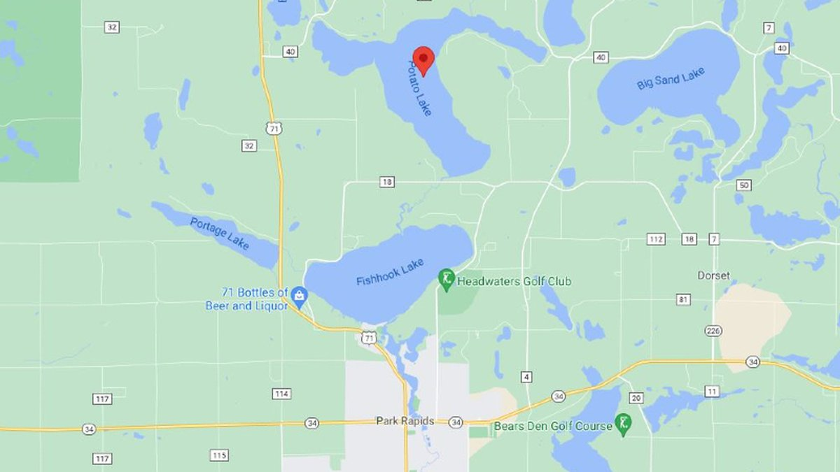 Potato Lake is just north of Park Rapids, MN.