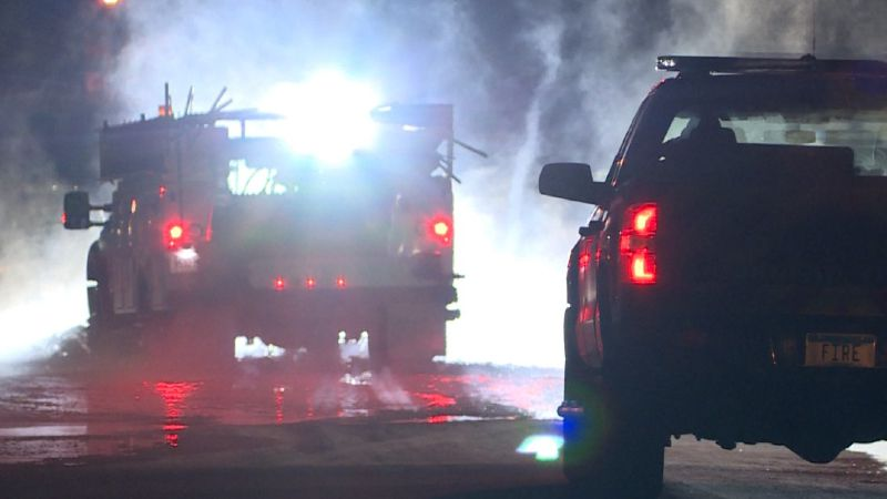 Crews rushed to fix a watermain break as it flooded streets in south Moorhead.