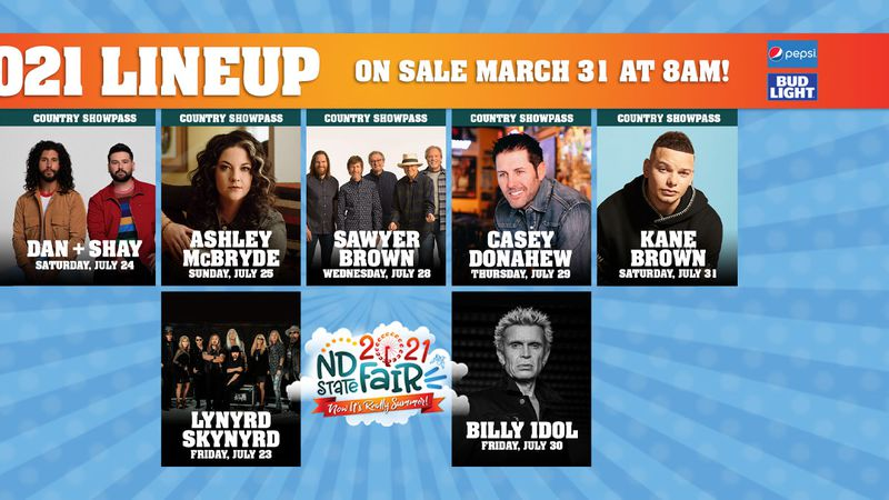 North Dakota State Fair 2021 Lineup
