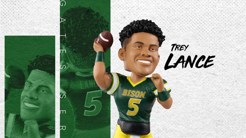 You can add the Trey Lance North Dakota State Bison Gates Series Bobblehead to your roster.