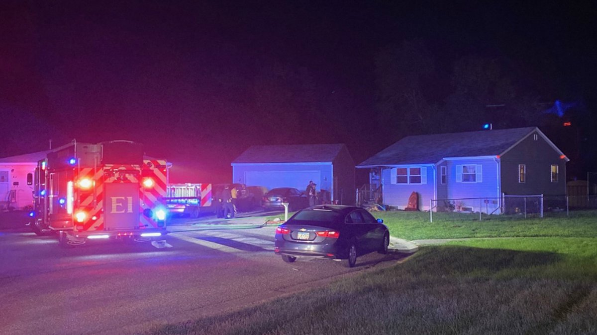 A fire in North Moorhead left one family without a place to sleep overnight.