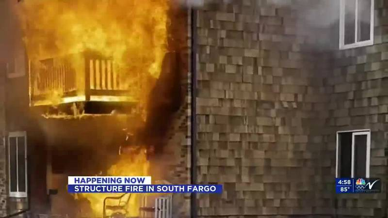 UPDATE: Two decks were on fire at apartment building