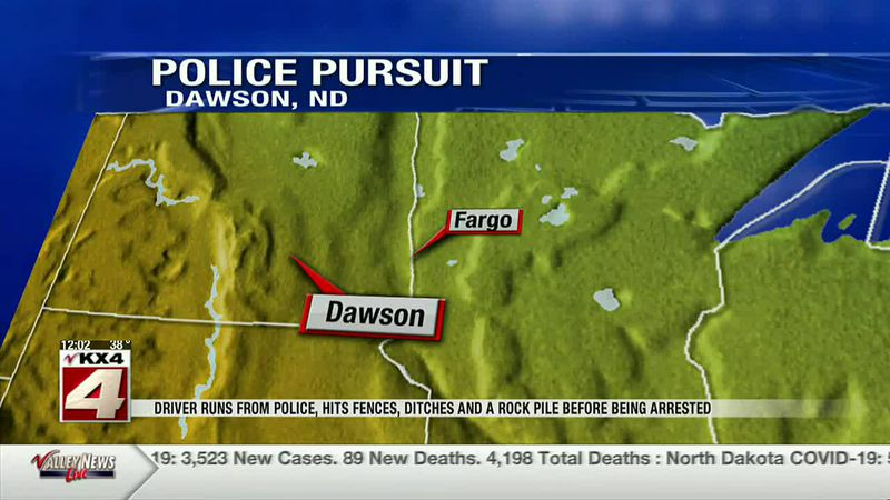 News - Driver runs from police, hits fences, ditches and a rock pile before being arrested