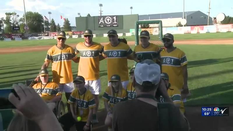 Sports - Wentz's charity softball game
