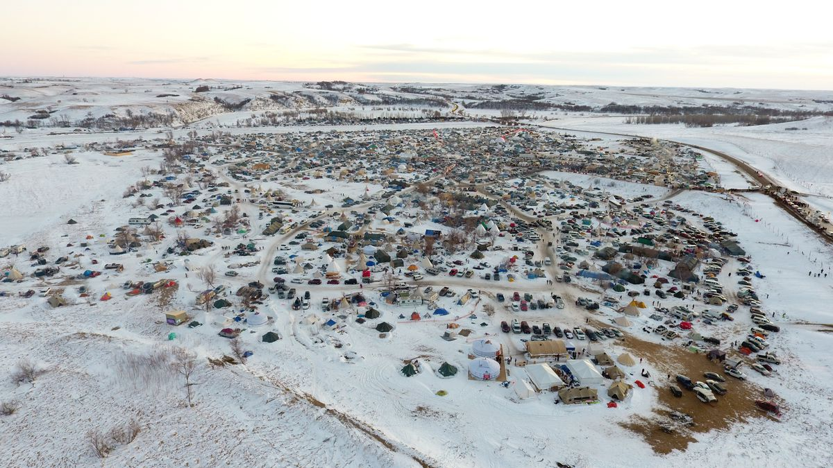 On Sunday, December 4, 2016 afternoon, Standing Rock Sioux tribe members and their allies celebrated, crying tears of joy, over the fact the Dakota Access Pipeline project would be rerouted away from land that's deemed sacred.