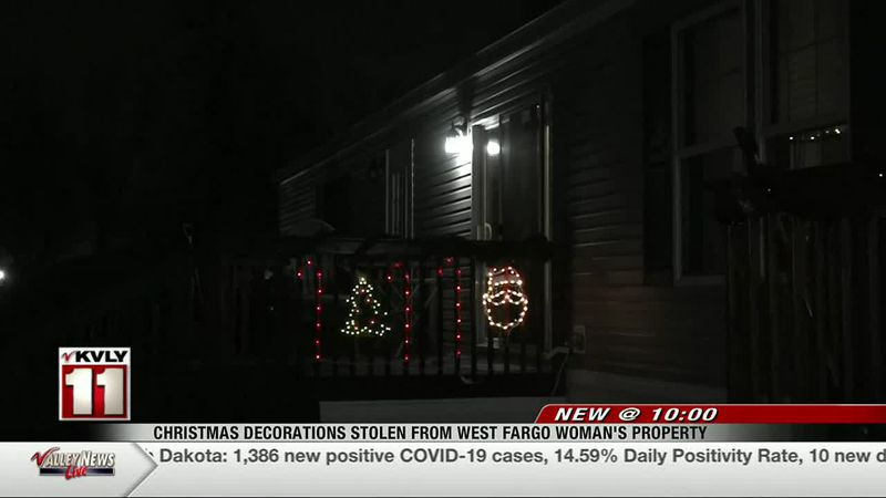 New - Christmas decorations stolen from West Fargo Woman's property