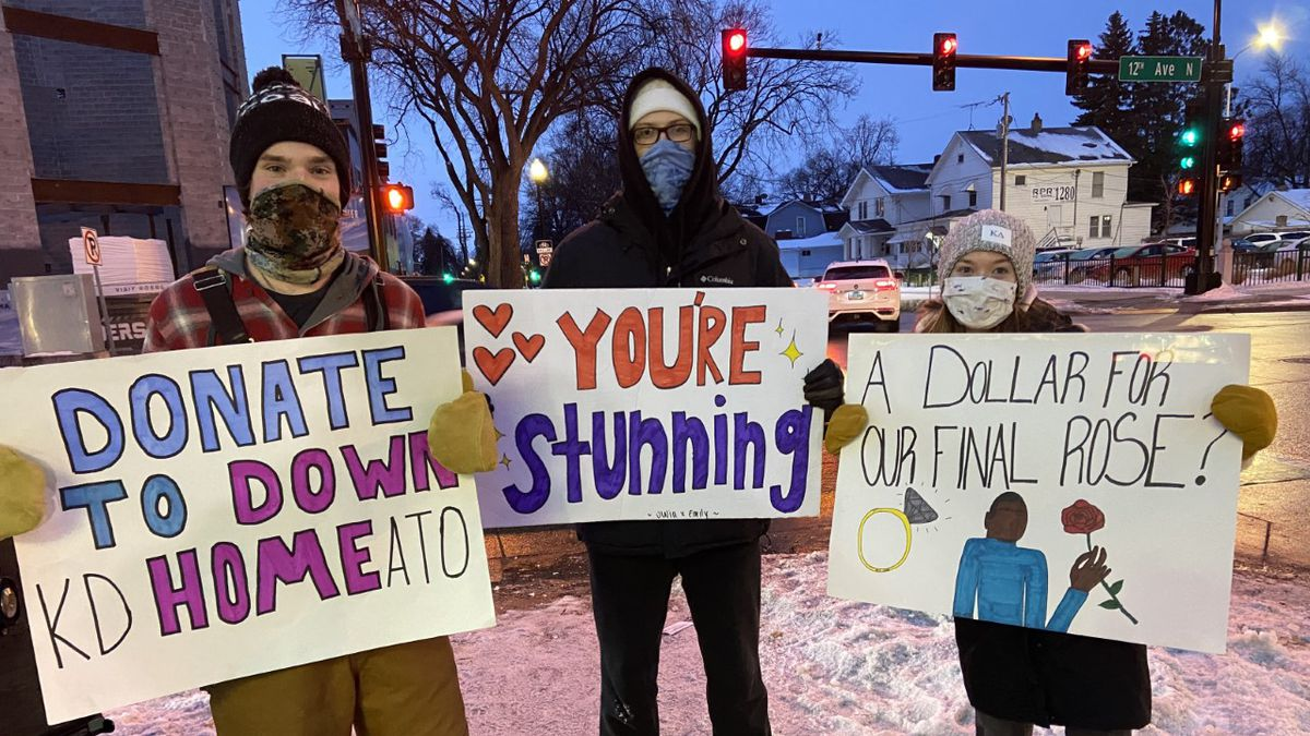 Members of Alpha Tau Omega are standing outside for 120 hours to raise $15,000 for the...