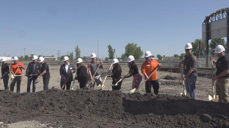 Groundbreaking on June 2, 2021 for the new Moorhead High School.