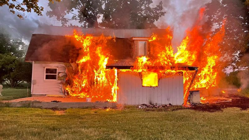 As Bemidji Fire Department arrived to the fire on Knutsen Road in Puposky, Minnesota,...
