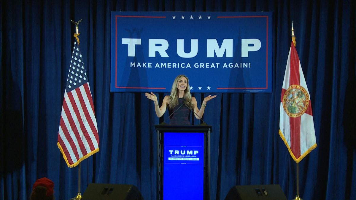 """Lara Trump visited the panhandle Tuesday for a """"Make America Great Again"""" event"""
