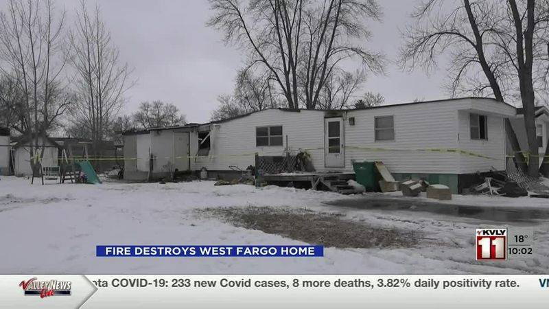 News - West Fargo mobile trailer home destroyed in fire