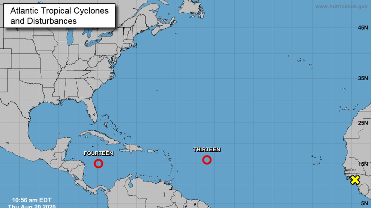 Two new tropical depressions have formed in the Atlantic and could be on tracks toward the...