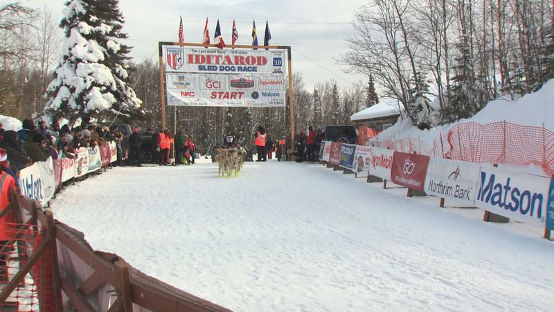 Pictured is the Iditarod Willow Restart in 2019. The 49th Iditarod race will look different...