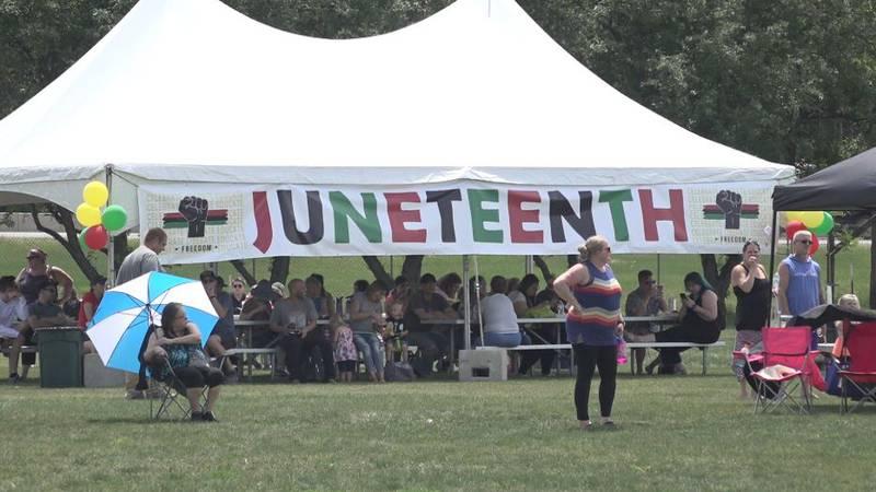 A Juneteenth celebration was held at the Lindenwood Park.
