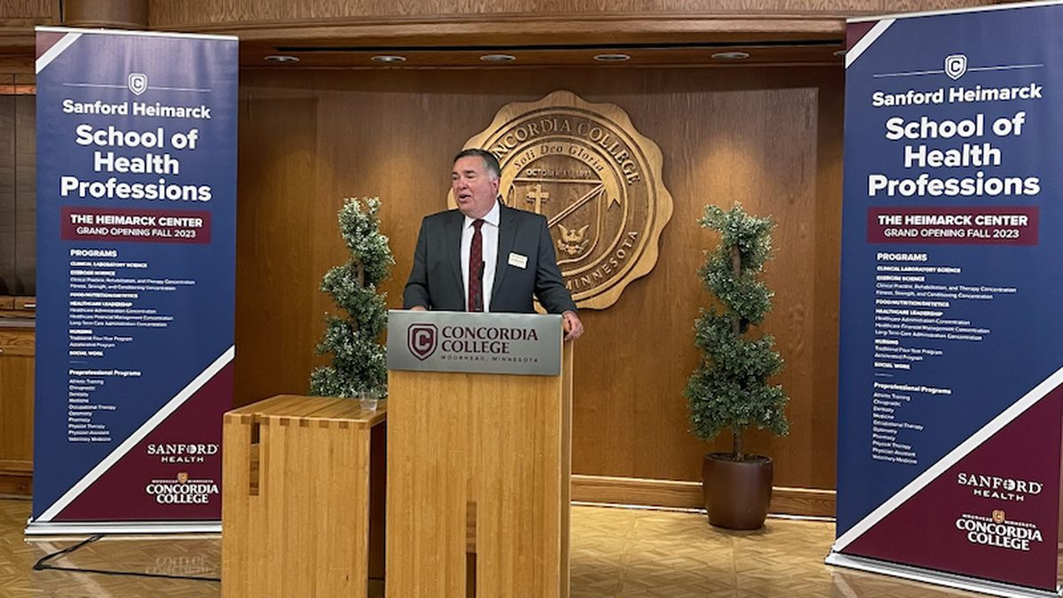 The new Sanford Heimarck School of Health Professions is named in honor of Sanford Health's...