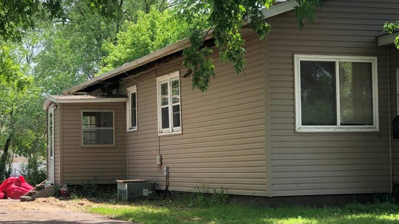 Lightning strikes a home in Detroit Lakes on June 8.