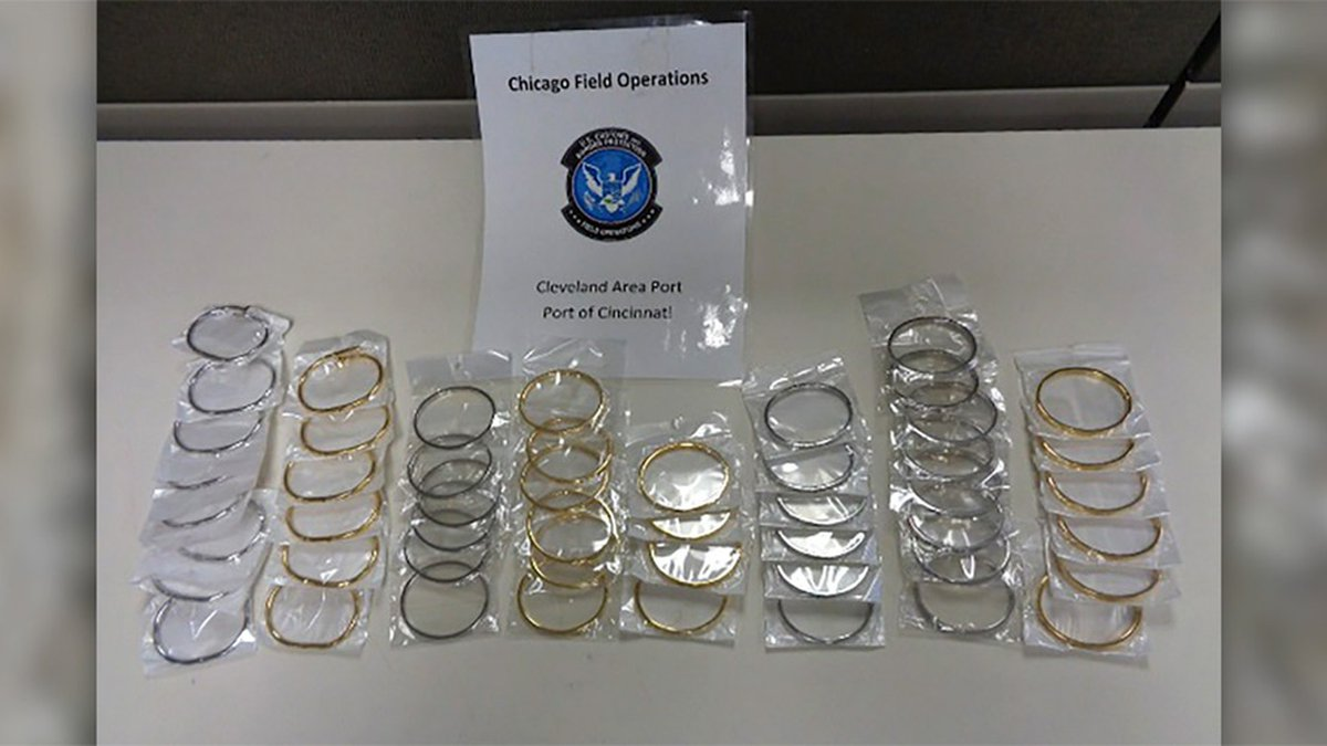 Customs and Border Protection seized about 500 fake jewelry items that would have been worth...