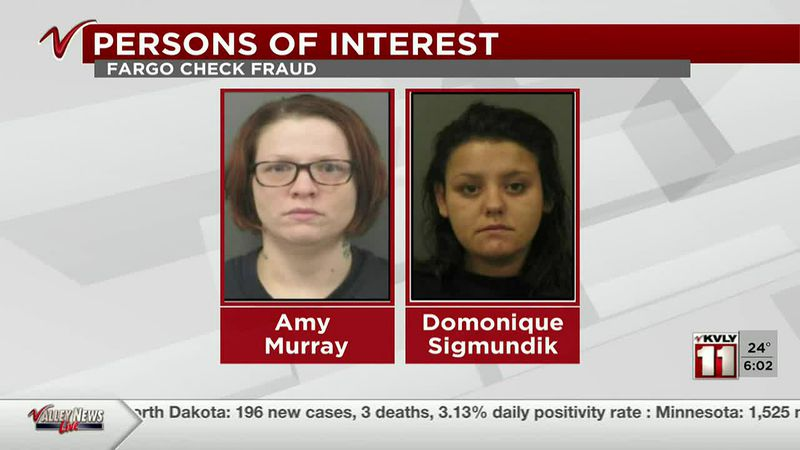 News - (UPDATE)- Fargo Police name persons of interest in check fraud