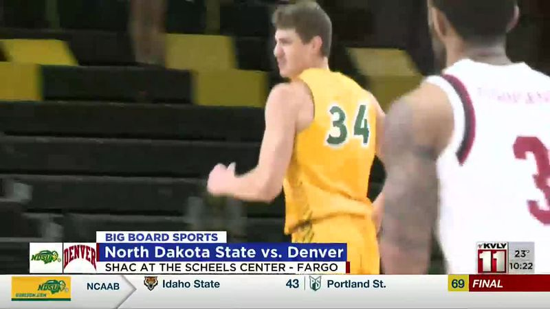 Sports - Bison Men and Women Basketball Defeat Denver