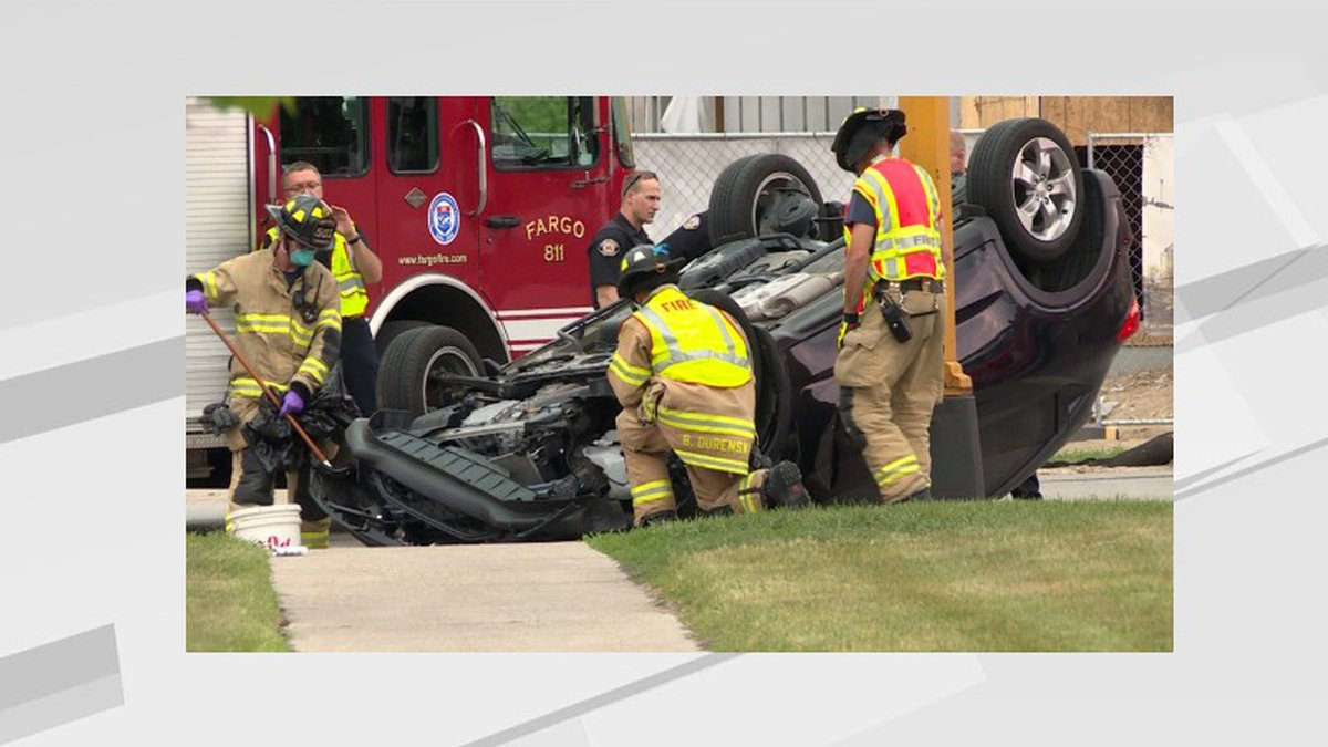 1 Ave. N. and 10 St. N. Fargo rollover