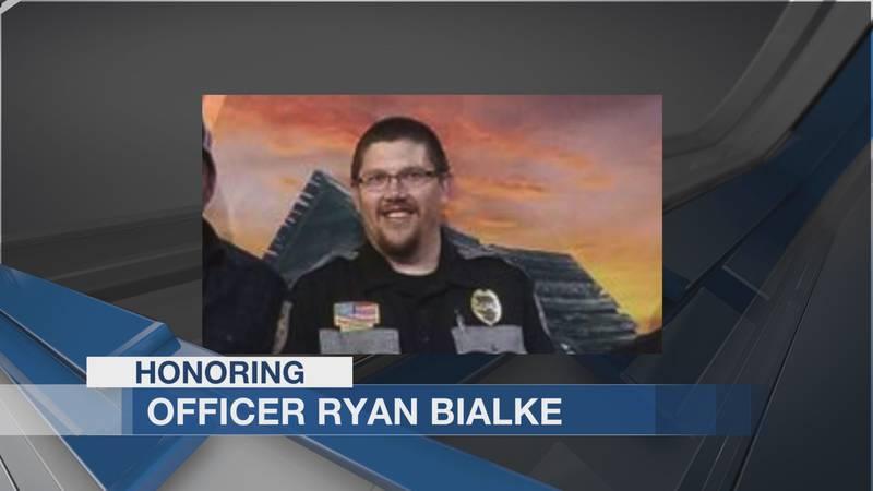 Honoring fallen police officer Ryan Bialke.