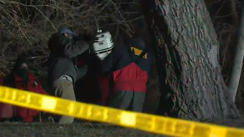 Emergency crews responded to a report of a possibly suicidal woman who may be in the Sheyenne...