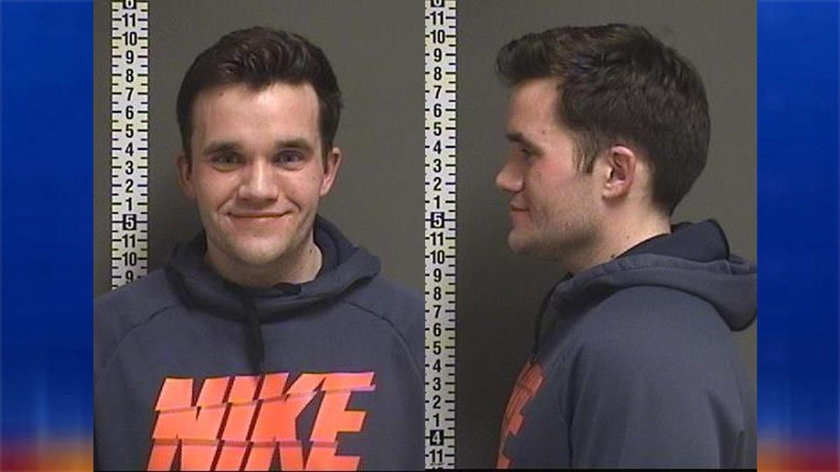 Brock Christian, 26, arrested for terrorizing, burglary and attempted burglary.
