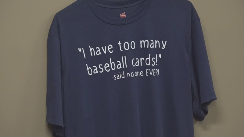 A shirt that says it all in Cards and Coins Fargo.