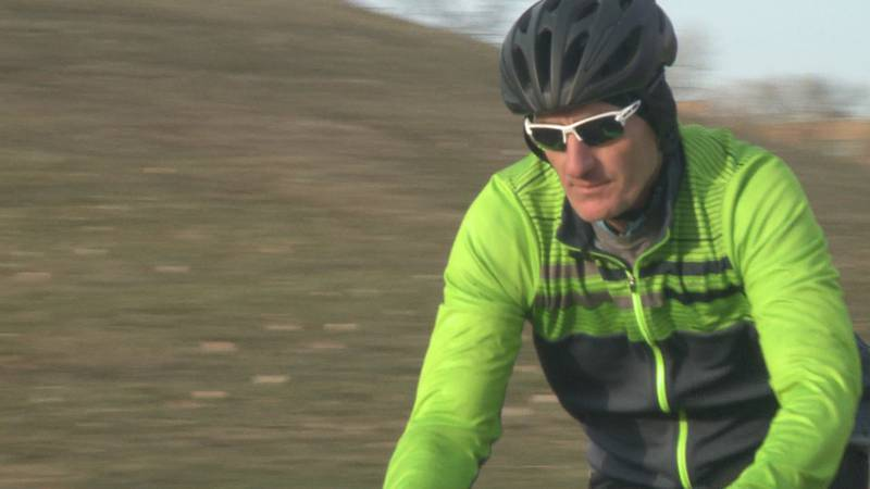 Vince Wuebker accomplishes goal to cycle 10,000 miles in 2020.