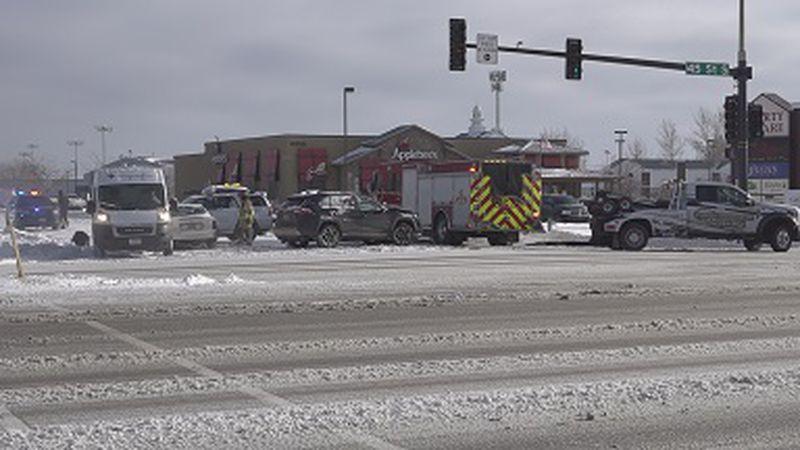 Five-car crash off of 45th St. S.