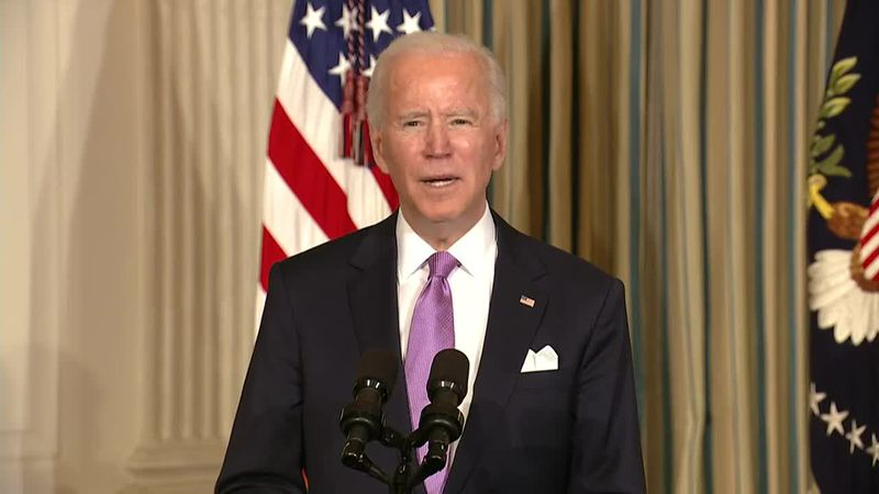 President Biden signs executive orders focusing on race as senators are sworn in as jurors in...