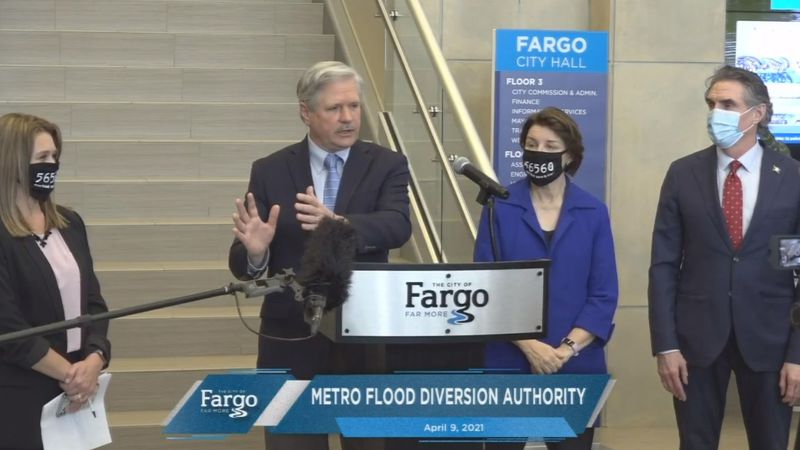 Metro Flood Diversion Authority on April 9, 2021.