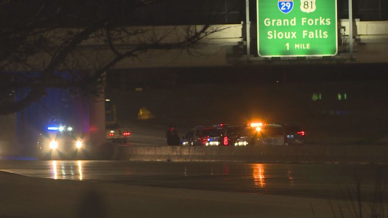 Fargo law enforcement responded to a call of a suicidal male on I-94.