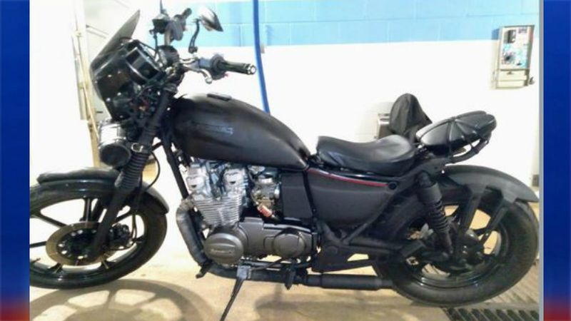 Authorities are searching for this 1983 motorcycle.