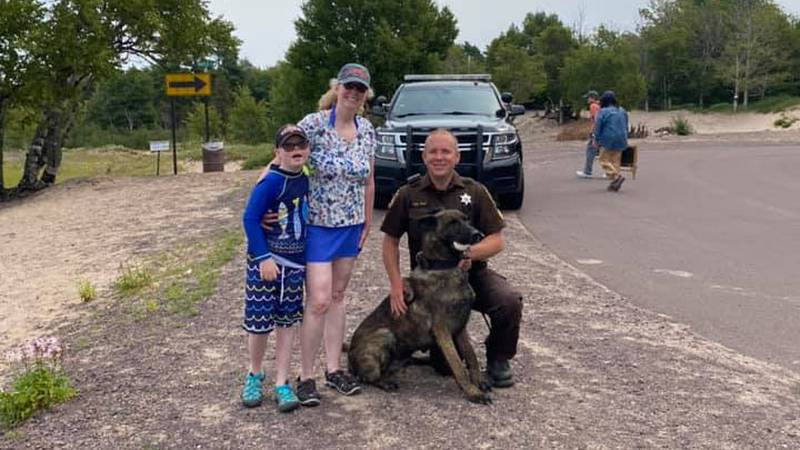 K9 Dogo put his training and skills to the test and found Elsa Green's rings.