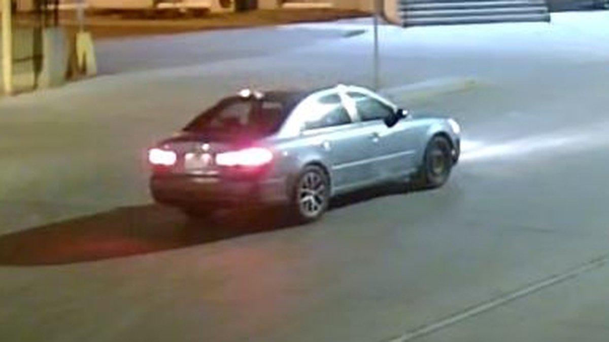 Surveillance photo of suspect vehicle.