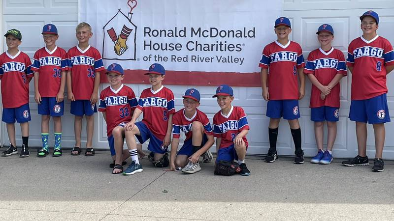 The Fargo AA 10-under baseball teams raised funds for the Ronald McDonald House Charities of...