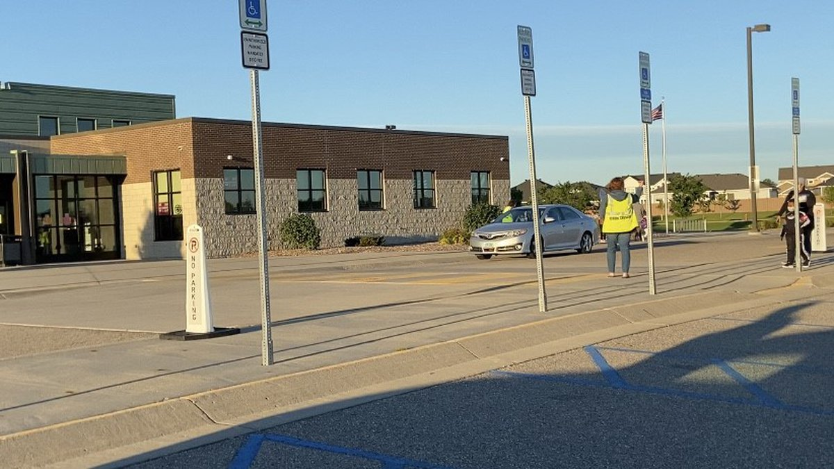 West Fargo Public Schools student and staff returned back to school this morning after being...