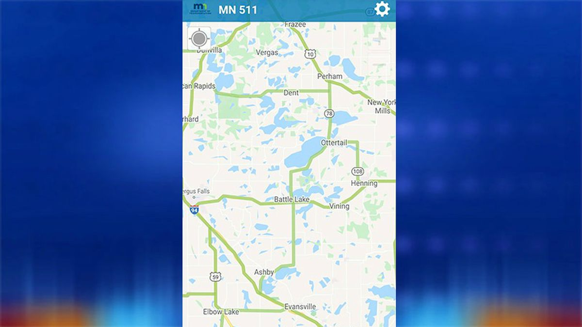 This is a screenshot of what the app will look like for road conditions in a specific area.