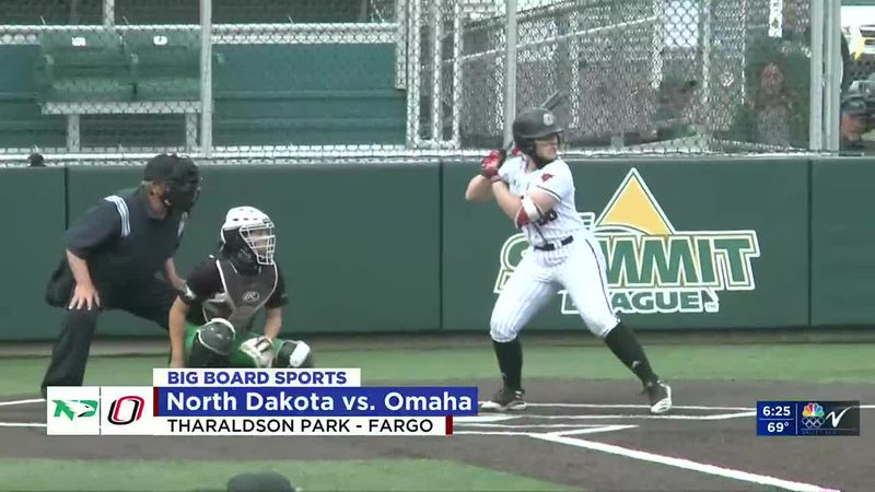 Sports - UND softball falls to Omaha