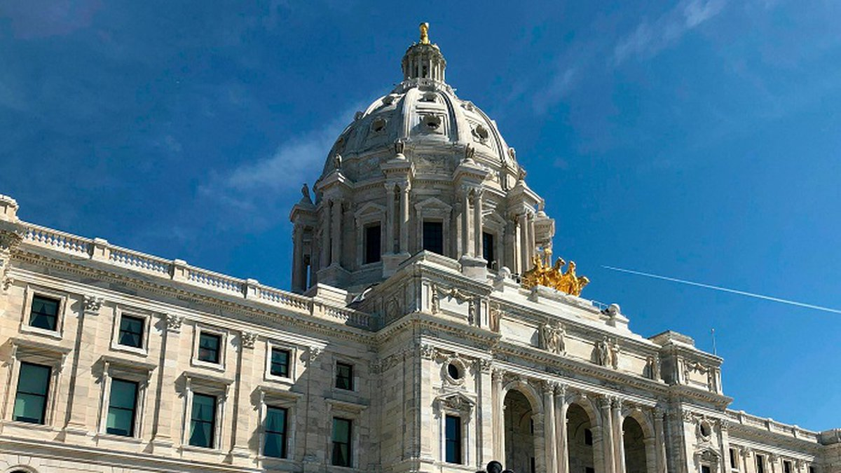 The sun shines on the Minnesota State Capitol in St. Paul, Wednesday, May 15, 2019. (Source:...