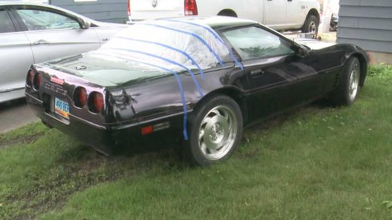 Vandalized Corvette