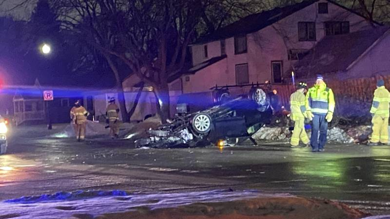 This crash happened near 14th St. S. in Fargo, that's in the Carl Ben Middle School neighborhood.