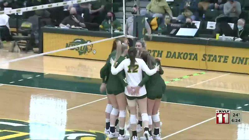 Sports - Bison Volleyball sweeps UND 3-0