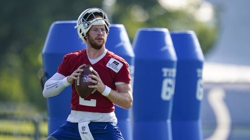 Carson Wentz won't be returning to team drills at Colts practice after all.